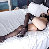 Sexy Silk Stockings with Long Lace and Long Tube Stockings