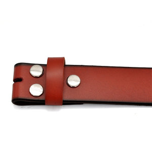 Genuine Leather Belts Without Buckle for Men Brand Cowskin Strap With One Layer Leather 1.5 Inch Width