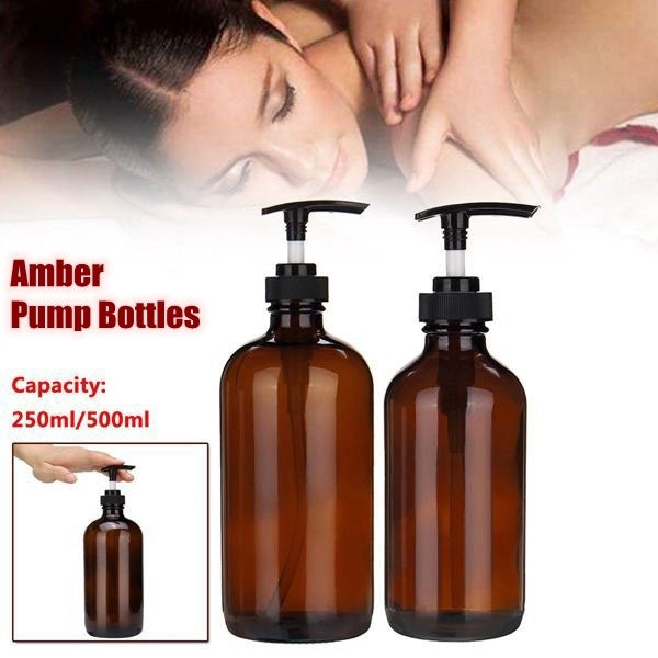 Amber PlasticTrigger Pump Bottles Essential Oil Aromatherapy, 1pcs
