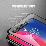 3pcs 10D Tempered Glass Film Shockproof Waterproof and Clear Suitable for Iphone Xs Xs Max Xr X 6 6S 6 Plus 7 7 Plus 8 8 Plus