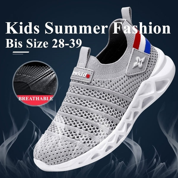 TangXXIV New Kids Teens Summer Fashion Breathable Mesh Casual Sports Sneakers Kids Sports Shoes Big Size 28-39 3 Colors