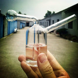 Mini Portable Glass Oil Burner Pipe Glass Bubbler