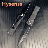 HOT ! ! Black Full Steel Handle AUTOMATIC CLASSIC Push Tactical Spring Assist Knife Army Hunting Camping Survival Knife  EDC Folding Blade