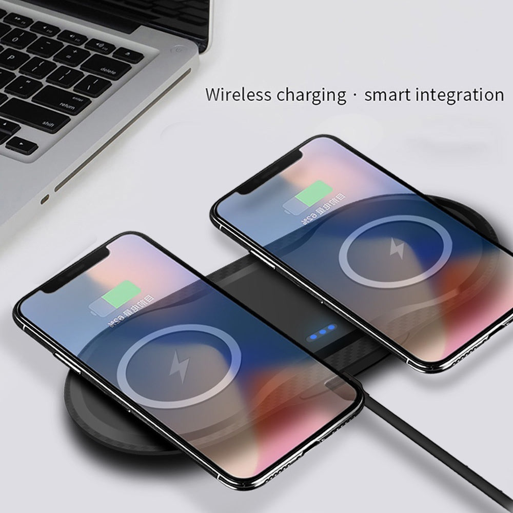 FDGAO Dual 10W Fast Charging Qi Wireless Charger Pad Mobile Phone Charging Dock Station for Iphone X XS XR 8 8Plus Samsung S10 S9 S8 S7
