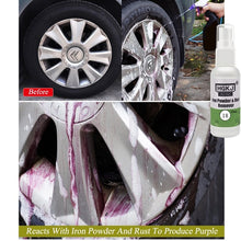 Load image into Gallery viewer, Car Tire Cleaning Wheel Rust Removal Paint Polish Iron Powder Cleaner Car Maintenance