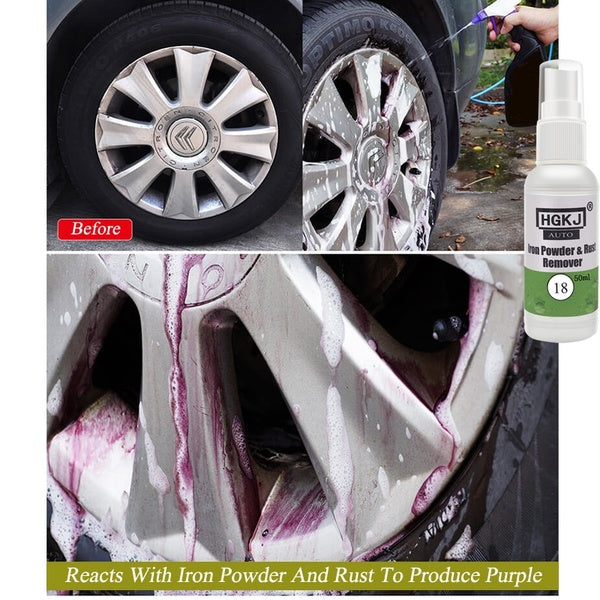 Car Tire Cleaning Wheel Rust Removal Paint Polish Iron Powder Cleaner Car Maintenance