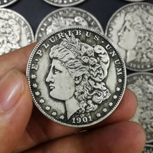 Load image into Gallery viewer, 1pcs Dollar Antique Silver Coins Collection Morgan Commemorative Collectible Coins 1879-1921US Old Coins Holder