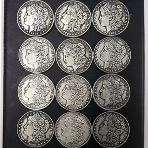 1pcs Dollar Antique Silver Coins Collection Morgan Commemorative Collectible Coins 1879-1921US Old Coins Holder