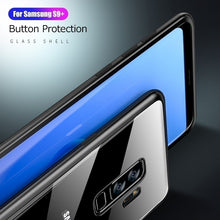 Load image into Gallery viewer, For Samsung Galaxy S10 S10 Plus S10e Magnetic Adsorption Metal Bumper Glass Case Cover for Samsung Galaxy S9 S9 Plus S8 S8 Plus A10 A30 A50 A70 M10 M20 M30 S7 Edge Note 9 8 Glass Cover
