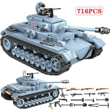 Load image into Gallery viewer, 716 PCS Technik Military Tank Building Blocks Army City WW2 Soldier Police Weapon Bricks Sets Boys Toys