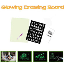 Load image into Gallery viewer, Drawing Board With Light  Magic Drawing Pad Glow Light Effects Puzzle Board Notes Creative Kids Gift LEDs Lights Shine Art Drawing Toys