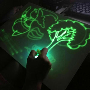 Drawing Board With Light  Magic Drawing Pad Glow Light Effects Puzzle Board Notes Creative Kids Gift LEDs Lights Shine Art Drawing Toys