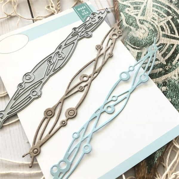 DIY Wave Decoration Metal Cutting Dies Scrapbooking Card Making Embossing Cuts Craft
