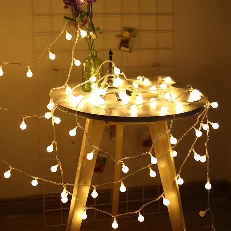 Fairy LED String Lights Christmas Round Ball Bulbs Wedding Party Lamp Lighting Decoration