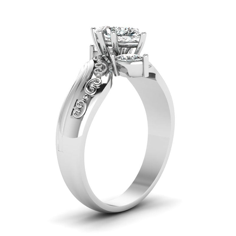 Couple Jewelry - His & Her 925 Sterling Silver Stainless Steel Promise Rings 1.85 Ct Marquise Cut Diamond Cz Bridal Engagement Ring & Men Wedding Band