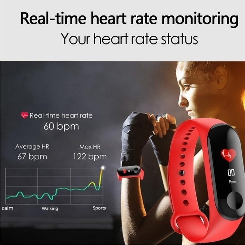 New Upgraded!!!Smart Bracelet Fitness Tracker Heart Rate Monitor Activity Tracker Smart Band Sport Watch