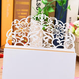 50pcs Pearl Paper Floral Invitation Cards Greeting Card Kits Invitation Holders for Wedding Birthday Party Anniversary