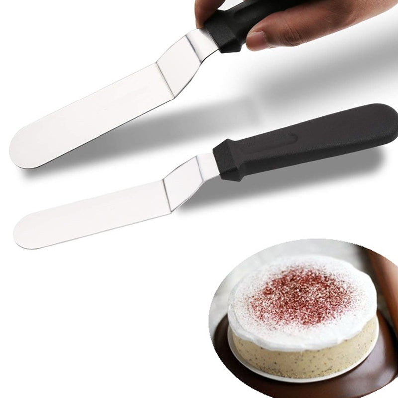 3pcs 6-10' Stainless Steel  Butter Icing  Cream With Handle Cake  Spatula Baking Pastry Cutter Tool