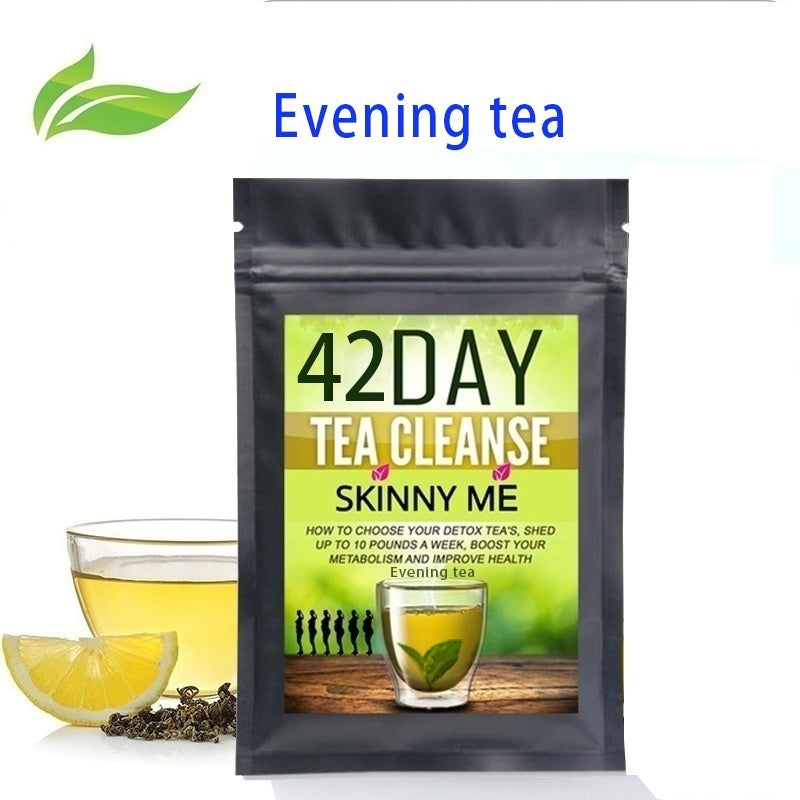 The latest research and development of fat-reducing detoxification tea, mild detoxification in the morning, fat-reducing at night.
