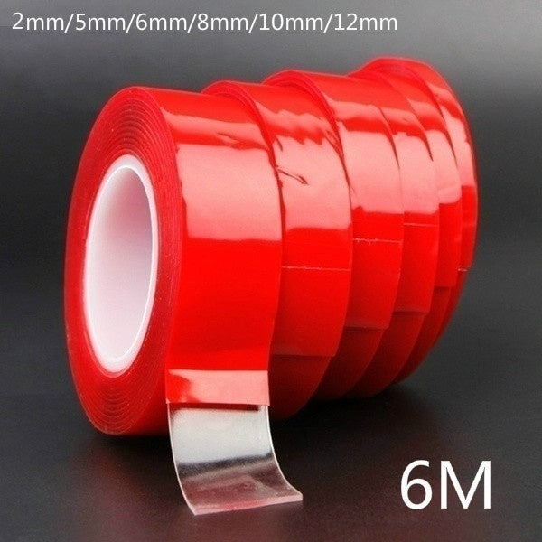 6M High Strength No Traces Adhesive Sticker Transparent Silicone Double Sided Tape Sticker For Car Living Goods