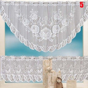 2PCS Window Tier Curtain Kitchen Dining Room Home Decor Set