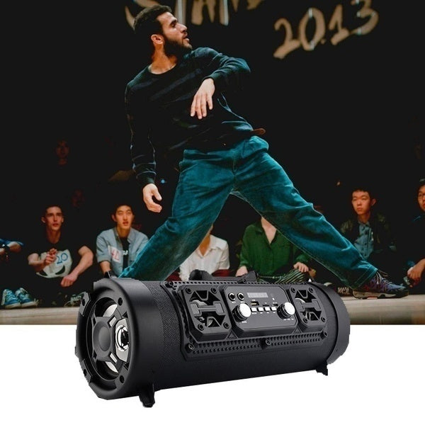 New Subwoofer Handsfree Wireless Bluetooth Portable Speaker Surround Sound Stereo Outdoor USB/ AUX/ TF Card for Phone PC