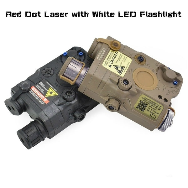 FMA Airsoft Tactical AN/PEQ-15 Red or Green Dot Laser with White LED Flashlight Torch IR illuminator For Hunting Outdoor