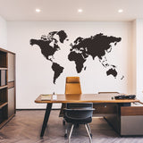 Wall Sticker World Map for House Living Room Decoration Decal Stickers Bedroom Decor Wallstickers Wallpaper Mural