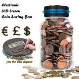 Large Digital Creative Fashion LCD Screen Coin Counting Save Money Automated Coin  Bank Electronic Coin Counting  Creative Money Saving Box