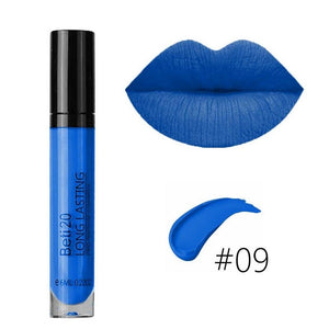 15 Colors Sexy Super Matte Colorstay Lipstick Lip Gloss Makeup for Women Lady Girls(color:black,violet,blue)