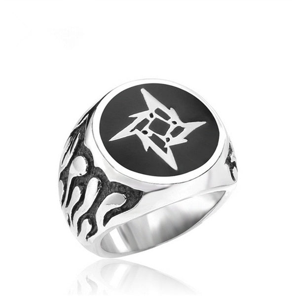 316L Stainless Steel Man's Fashion Ring New Retail Metallica Ninja Star Rings