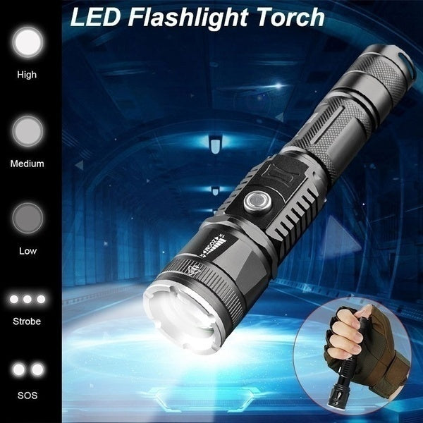 2019 UP HOT Led 10000000LM Torch Phone Usb Charging Flashlight Linternas/ Lampe Torch + Charger + Rechargeable Battery