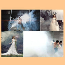 Load image into Gallery viewer, 8 Colors Smoke Fog Cake Smoke Effect Show Round Bomb, Fire Drill Smoke, Photography, Movie Smoke Effect, Fog Background, DIY Toy Gifts (White 10Pcs)