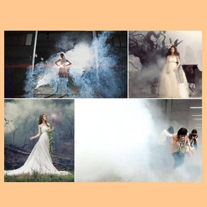 8 Colors Smoke Fog Cake Smoke Effect Show Round Bomb, Fire Drill Smoke, Photography, Movie Smoke Effect, Fog Background, DIY Toy Gifts (White 10Pcs)