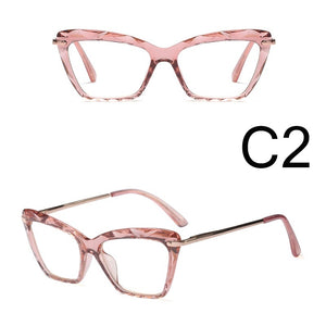 Fashion Classic Outdoor Clear Lens Square Glasses Metal Frames Women Trending Styles Brand Optical Computer Glasses  Eyewear