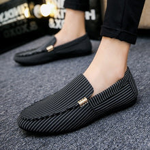 Load image into Gallery viewer, Mens Casual Slip-on Flat Shoes Breathable Striped Flat Shoes Plus Size Men Driving Shoes Doug Shoes