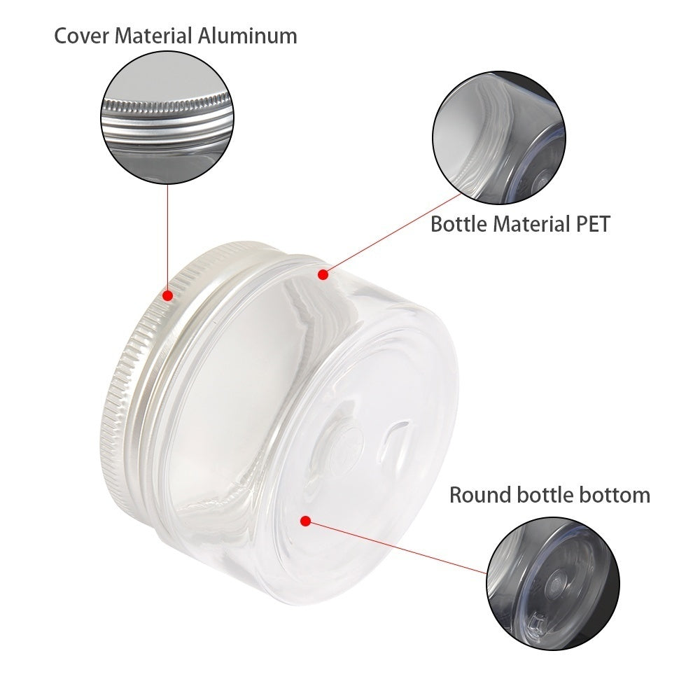 20/50Pcs 30/60/100ml Aluminum Cap Cosmetic Food Tin Pot Lip Balm Jar Containers Oil Wax Empty Bottle Sample Bottle