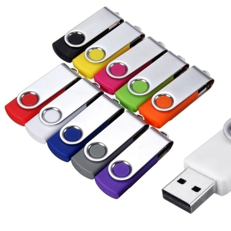 USB 2.0 Flash Memory Stick Pen Drive Storage Thumb U Disk Foldable Key Pendant Gifts Swivel 64MB