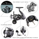 Spinning Fishing Reels Left/right Freshwater Saltwater 5.1/5.5:1 Gear Ratio 14 Ball Bearings Fishing Reel