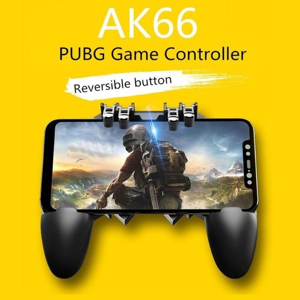 Hot Sale PUBG Mobile Gamepad Joystick Metal L1 R1 Trigger Game Shooter Controller for iPhone Android Phone Mobile Gaming Gamepad
