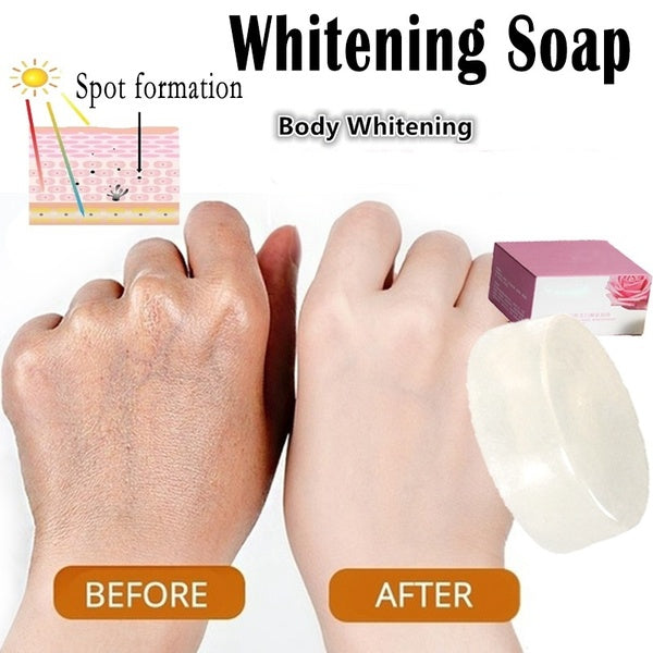 Handmade Whitening Soap Crystal Soap Bleaching Milk Glycerin Soap Deep Cleaning Effective Skin Lightening
