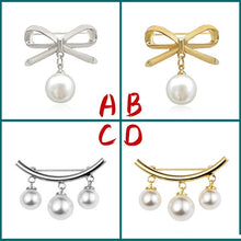 Load image into Gallery viewer, Classic Simulated Imitation Pearl DIY Collar Pins For Shirts Lapel Brooches Cardigan Clip