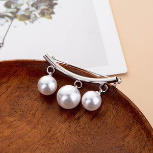 Classic Simulated Imitation Pearl DIY Collar Pins For Shirts Lapel Brooches Cardigan Clip