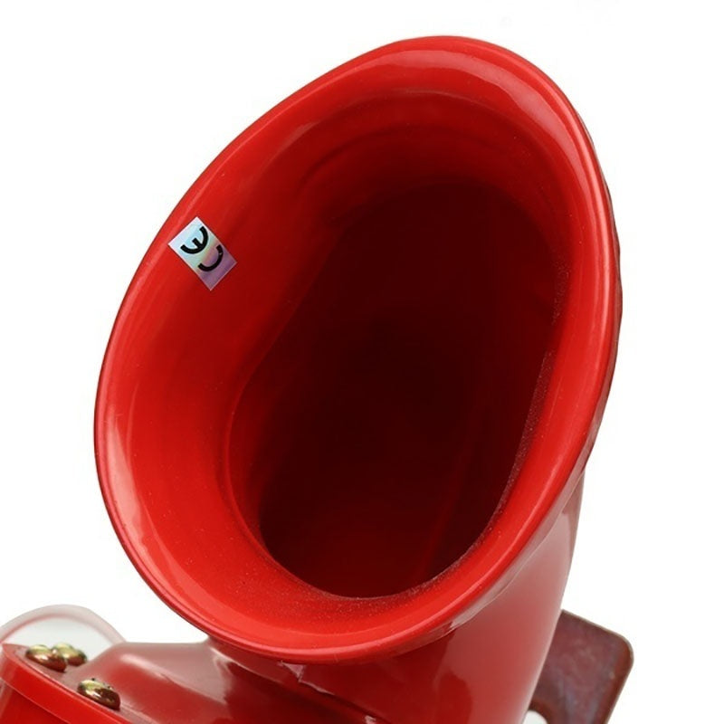 12V60V New Super Loud Red Electric Bull Horn Air Horn Raging Sound For Car Motorcycle Truck Boat