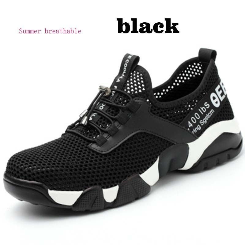 Steel Nose Safety Work Shoes Breathable Casual Sneaker Prevent Piercing Men Women Protective Shoes