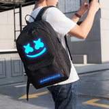 Marshmello DJ Boy Girl Luminous Backpack Anti-theft USB Charging Travel Backpack Students School Bag