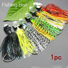 Load image into Gallery viewer, Fishing Chatter Bait Spinner Bait Fishing Lure Buzzbait Chatter Bait Artificial Rubber Skirt Chatterbait for Bass