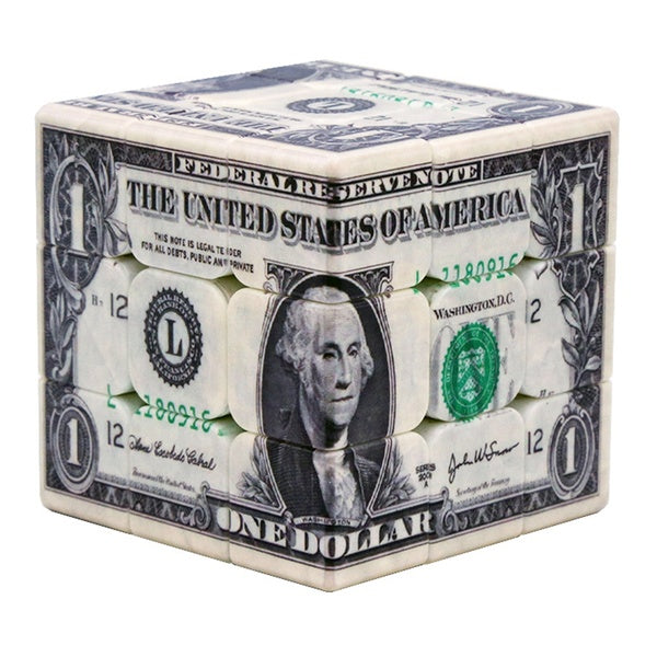 UV Printing Dollar Pattern 3x3x3 Magic Cube Speed Cube Puzzle Toy