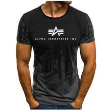 Load image into Gallery viewer, 2019 Summer New Fashion Mens Short Sleeve Alpha Industries Herren T-Shirt Basic Manner Shirt Men T Shirt