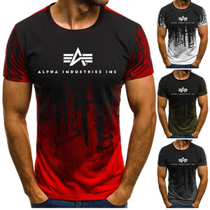 2019 Summer New Fashion Mens Short Sleeve Alpha Industries Herren T-Shirt Basic Manner Shirt Men T Shirt